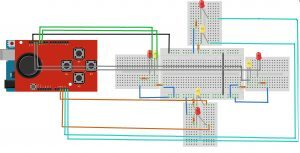 Led - Joystick Shield Kartı bağlantı şeması